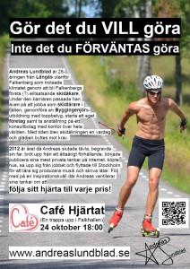 Inbjudan - Café Hjärtat 24 oktober